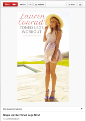 Lauren Conrad Tone Legs Workout. Pin this and do it on your lunch break